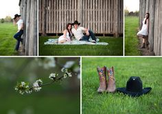 Spring Engagement Session E-session www.studionineportraits.com country engagement, cowboy, what to wear for engagment session