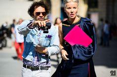 Olivier Zahm + Daphne Guinness   Paris