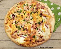 Pizza poulet-bacon sauce moutarde et miel