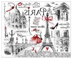 Kai Fine Art is an art website, shows painting and illustration works all over the world. Vintage Paris, Vintage Diy, Vintage Images, Pray For Paris, I Love Paris, Diy Image, Paris Illustration, Paris Wallpaper, Foto Transfer