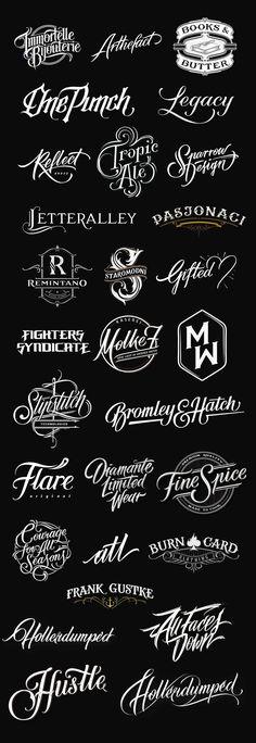 handlettered logotypes | by mateusz witczak