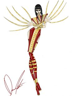Lady Deathstrike's bangs are are sharp as her nails. | X-Men