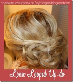 Loose Looped Up-do hair tutorial