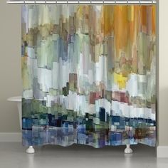 100/% Polyester French Country Poem Riding Shower Curtain Bathroom Fabric 12hooks