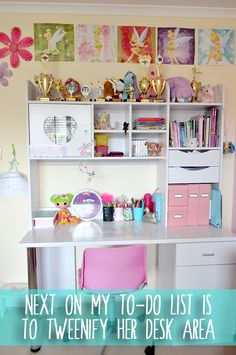 Girls Bedroom Makeover – Tweenifying Miss 10′s room : The Organised Housewife : Ideas for organising and Cleaning your home