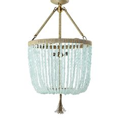Vintage Lighting Serena and Lily Seychelles Chandelier here . Serena and Lily birds Nest Hanging Lamp here . Anthropologie Ensnared lamp b. Sea Glass Chandelier, Beaded Chandelier, Chandelier Ideas, Closet Chandelier, Simple Chandelier, Blue Chandelier, Hanging Chandelier, Chandelier Lighting, Bedroom Lighting