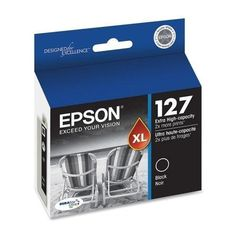 Epson 127 T127120 Black OEM Genuine Inkjet/Ink Cartridge - http://www.newofficestore.com/epson-127-t127120-black-oem-genuine-inkjetink-cartridge/