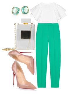 """Без названия #1584"" by hleyliy ❤ liked on Polyvore featuring Chloé, A.L.C., Christian Louboutin and Kate Spade"