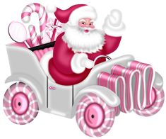 CHRISTMAS CANDY SANTA IN PINK