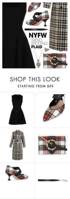 """NYFW Trend Spotting: Plaid"" by deepwinter ❤ liked on Polyvore featuring Miu Miu, Trish McEvoy, Alexander McQueen, contestentry and NYFWPlaid"