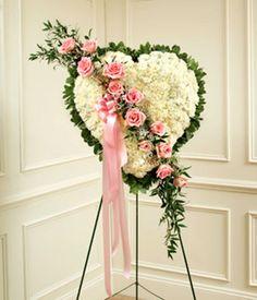 Gallery For > Funeral Flower Arrangements Heart
