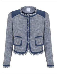 chaqueta twee contrastes azul Blanco SS 2012