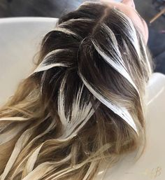 Haare Painting Petals 🌸 by Kara Marlow Wedding Gift Registries: Couples' Most Common Q Hair Color Balayage, Hair Highlights, Aveda Hair Color, Bayalage, Hair Colour, Cabelo Ombre Hair, Balage Hair, Hair Color Formulas, Hair Color Techniques