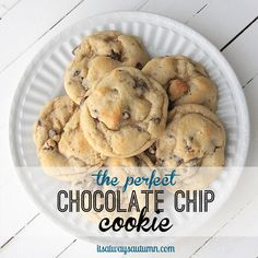 it's the PERFECT chocolate chip cookie recipe! never flat, always soft, chewy, and delicious.