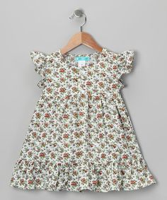 Take a look at this White & Red Ruffle Dress - Toddler & Girls by Ava Loves Olli on #zulily today!