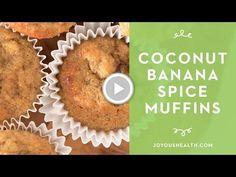 Coconut Flour Banana Spice Muffins