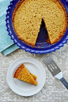 Brown Sugar Buttermilk Pie - a quick and easy taste of the South.