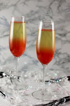 This pineapple champagne punch recipe the perfect New Year's Eve cocktail. It's pretty, easy to make, and tastes amazing!