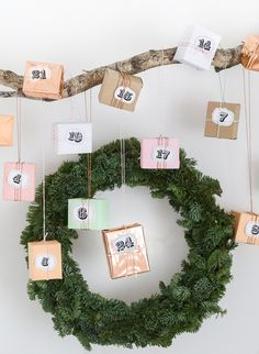 Advent calendar numbers free printable   GARN & MEHR