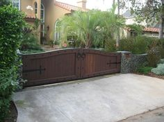 Spanish Style Driveway Gate, Wrought Iron Hardware Gates and Fencing Stout Design Build Los Angeles, CA