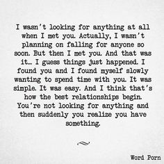 that's how it happened...pretty much word for word. I'm so happy it did. I love you! #soulmatelovequotes