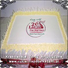 001. Tort z białej czekolady dla firmy Da Pietro. White chocolate cake for Da Pietro.