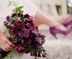 burgundy and plum bouquet