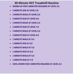HIIT training can be hard and strenuous, specifically for beginners who are not yet ready to use their body's optimum capacity during their workout sessions. Even those who are fit and active need to heat up prior to they begin with their HIIT training. Treadmill Routine, Treadmill Workouts, Cardio Hiit, Treadmill Running, Running Plan, High Intensity Workout, Intense Workout, Hiit Benefits, Build Muscle Mass