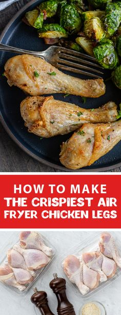 Air fryer chicken legs are an easy and finger-licking amazing lunch. These chicken legs make a great lunch or dinner for kids. They are super easy to make and only take 25 minutes, they make the perfect busy weeknight meal. These chicken legs have crispy skin and they are super juicy inside. #chickenlegs #airfryerrecipes