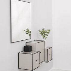 View Speil 70x70cm, Sort - by Lassen - by Lassen - RoyalDesign.no