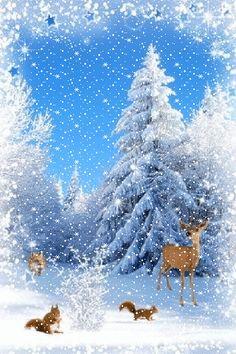 the return of the light . Christmas Scenes, Christmas Animals, Christmas Pictures, Christmas Art, Christmas Greetings, Winter Christmas, Winter Images, Winter Pictures, Winter Scenery
