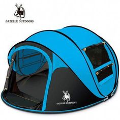 GAZELLE OUTDOORS throw tent automatic pop up waterproof camping person tent Season: Four-season TentLayers: SingleType: 3 - 4 Person Tent Outside Tent Burning Man Essentials BMEssentials Festival