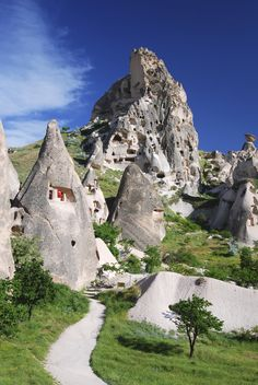 Cappadocia stone village in Turkey.  ✈✈✈ Don't miss your chance to win a Free Roundtrip Ticket to anywhere in the world **GIVEAWAY** ✈✈✈ https://thedecisionmoment.com/free-roundtrip-tickets-giveaway/