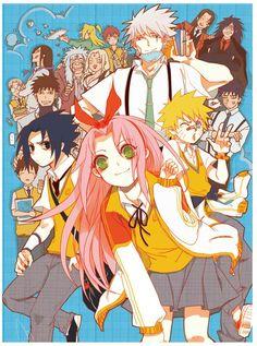 Naruto school AU! Credit to MAOQ. Pixiv id=6567321