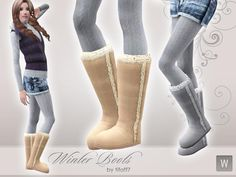 Winter Boots.  Found in TSR Category 'Sims 3 Female Clothing'