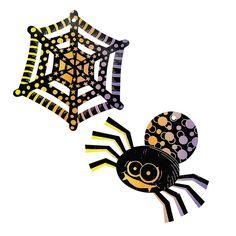 #OrientalTrading #HalloweenWishList    Magic Color Scratch Spiders & Spiderwebs - OrientalTrading.com