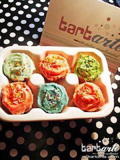 mini cupcakes de colores www.tartarte.com