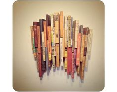 Aestheticized Reading Art - The Book Wall Sculpture' Transforms the Purpose of Literature (GALLERY) Book Sculpture, Wall Sculptures, Hall And Living Room, Wall Collage, Wall Art, Wall Decor, Recycling, Recycled Books, Book Wall