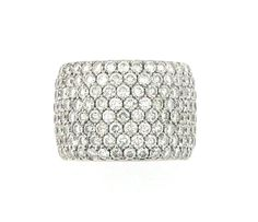 Pave diamond eternity band in white gold