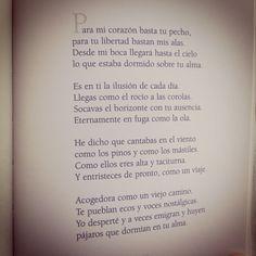 """""""Es en ti la ilusión de cada día.""""  Pablo Neruda."""