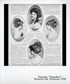 Peinados de la epoca.
