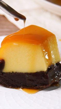 Baking Recipes, Cookie Recipes, Dessert Recipes, Chocolate Flan Cake, Choco Flan, Food Cakes, Cupcake Cakes, Zumbo Desserts, Mexican Food Recipes