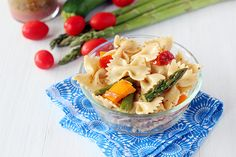 This Roasted Vegetable Pasta Salad works great as a side dish the night before, and as a full lunch the next day.