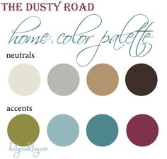 home color palette design inspiration for a mood board - Home Decor Color Palettes