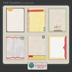Fresh Squeezed Journaling Cards