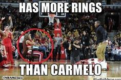 More RINGS than Carmelo?