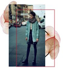 In bloom.  DROMe leather jacket featured in Design Scene