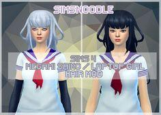 yanderesimulator yandere simulator yansim hair megami saiko laptop girl hair cc download sims sims 4 sims4