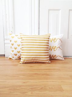 Hey, I found this really awesome Etsy listing at https://www.etsy.com/listing/167575534/three-mix-and-match-gold-painted-pillow