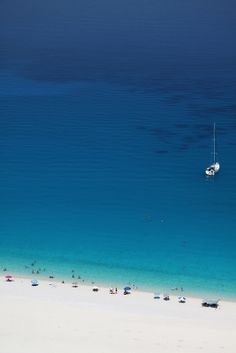 Myrtos Beach, Kefalonia, Greece.